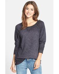 Caslon | Gray Caslon Burnout Sweatshirt | Lyst
