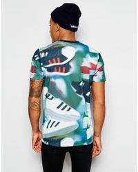 Adidas Originals | Blue T-shirt With Chaos Print for Men | Lyst