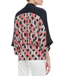 Trina Turk - Pink Evangelina Printed Silk Jacket - Lyst