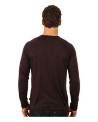 John Varvatos - Red Long Sleeve Raglan Knit Crew Neck With Raw Cut Seams And Coverstitch Details K2411r3b for Men - Lyst