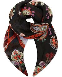 Mary Katrantzou | Black Printed Silk Scarf | Lyst