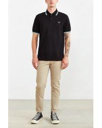 Stussy - Black Classic Twin Stripe Polo Shirt for Men - Lyst