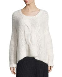 Eileen Fisher - White Fisher Project Fluffy Box Top - Lyst