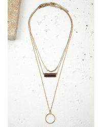 Forever 21 - Metallic Faux Stone Pendant Necklace Set - Lyst