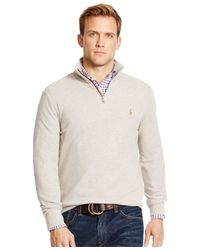Polo Ralph Lauren | Gray Half-zip Pima Mockneck Pullover for Men | Lyst