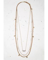 Forever 21 - Brown Layered Cord Charm Necklace You've Been Added To The Waitlist - Lyst