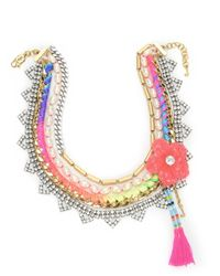 Juicy Couture | Multicolor Hibiscus Flower Statement Necklace | Lyst