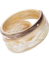 Monique Péan - Metallic Gold & Buffalo Horn Studded Bangle - Lyst