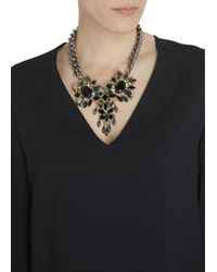 Anton Heunis - Metallic Gold Plated Swarovski Crystal Necklace - Lyst