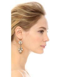 Adia Kibur - Multicolor Floral Crystal Drop Earrings - Multi - Lyst