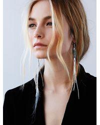 Free People - Metallic Snake Chain Shoulder Duster Earrings - Lyst