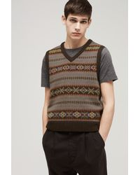 Rag & Bone - Brown Troy Vest for Men - Lyst