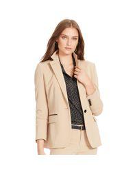 Ralph Lauren | Brown Stretch Wool Jacket | Lyst