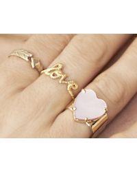 Zoe & Morgan | Metallic Love Lasso Gold Ring | Lyst
