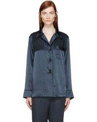 Araks | Blue Navy Silk Pyjama Blouse | Lyst