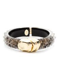 Alexis Bittar | Metallic Kinshasa Liquid Crocodile Hinged Bracelet | Lyst
