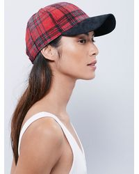 Free People | Red Almar Hats Womens Taylor Baseball H | Lyst