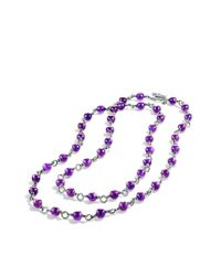 David Yurman | Purple Bead Necklace with Amethyst | Lyst