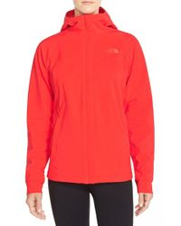 The North Face | Red 'maddie Raschel' Soft Shell Jacket | Lyst