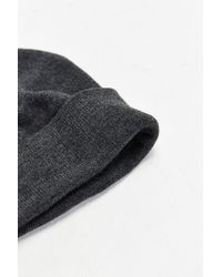 Urban Outfitters - Gray Uo Classic Beanie for Men - Lyst
