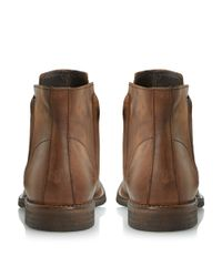 Bertie - Brown Campus Doublezip Washed Look Boots for Men - Lyst