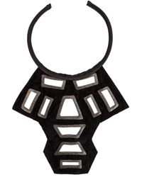 Urban Zen - Black ' Shield' Necklace - Lyst