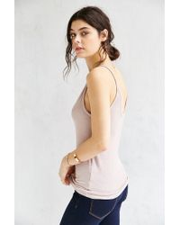 Truly Madly Deeply - Gray Double Voop Tank Top - Lyst