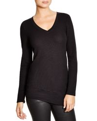 Splendid | Black Asymmetrical Thermal Top | Lyst