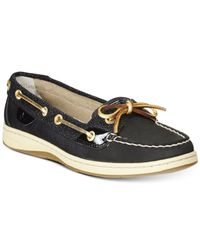 Sperry Top-Sider | Black Angelfish Boat Shoes | Lyst