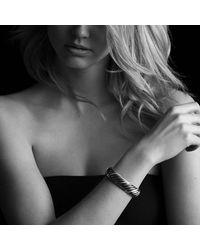 David Yurman - Black & Gold Waverly Bracelet With Gold - Lyst