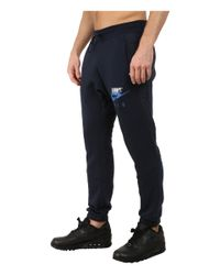 Nike | Blue Aw77 Fleece Cuff Pants Hybrid for Men | Lyst