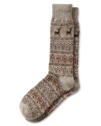 Banana Republic   Natural Reindeer Sock for Men   Lyst