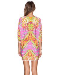 Trina Turk | Pink Woodblock Floral Coverup | Lyst