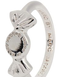Marc By Marc Jacobs | Metallic Lost And Found Silver Tone Candy Ring | Lyst