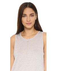 Rebecca Minkoff - Multicolor Raw Crystal Y Necklace - Lyst