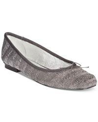 Adrianna Papell | Metallic Zoe Ballet Flats | Lyst