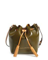 Dooney & Bourke - Green 'serena' Embossed Leather Crossbody Bag - Lyst