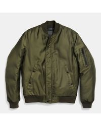 COACH | Green Ma-1 Jacket In Nylon for Men | Lyst