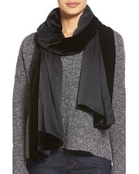 Eileen Fisher | Black Velvet Wrap | Lyst