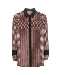 Etro Brown Printed Silk Shirt