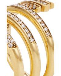 Monica Rich Kosann Metallic Diamond Pave Mercury Wrap Ring