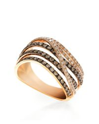 Effy | Pink Brown Diamond And 14k Rose Gold Ring, 0.88 Tcw | Lyst