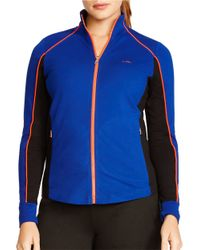 Lauren by Ralph Lauren | Blue Plus Stretch Track Jacket | Lyst