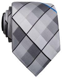 Perry Ellis - Black Mahi Plaid Slim Tie for Men - Lyst