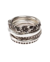 Werkstatt:münchen | Metallic Stacked Rings for Men | Lyst