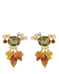 Les Nereides | Green Feuilles D'automne Earrings | Lyst
