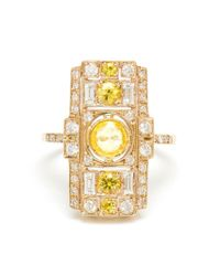 Sabine G | Metallic 18Kt White Gold And Yellow Sapphire Ring | Lyst