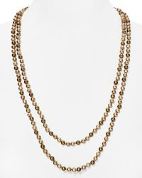 "Carolee - Natural Tonal Beaded Necklace, 60"" - Lyst"