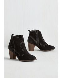 Restricted - Black Cute With A Kick Bootie - Lyst