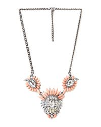 Forever 21 - Orange Ornate Faux Stone Necklace - Lyst